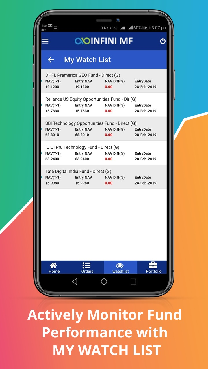 Watchlist Introducing fresh new Online Mutual Fund Investment Mobile Application ! INFINI MF