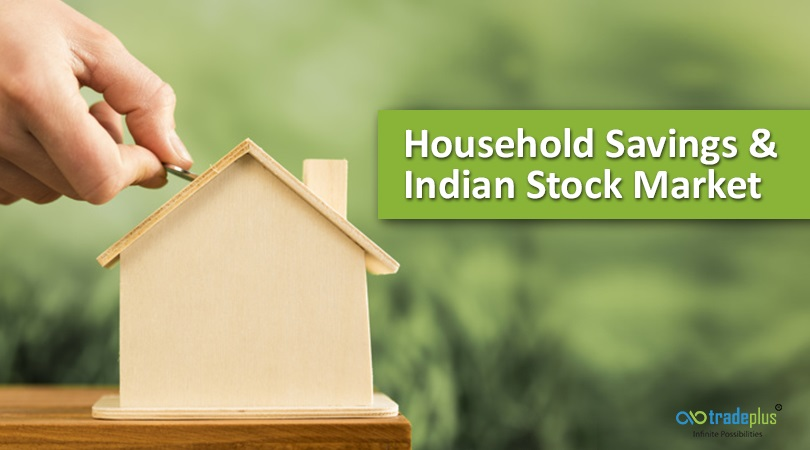 Household Savings stock market How much current household savings attracted to Indian Stocks?