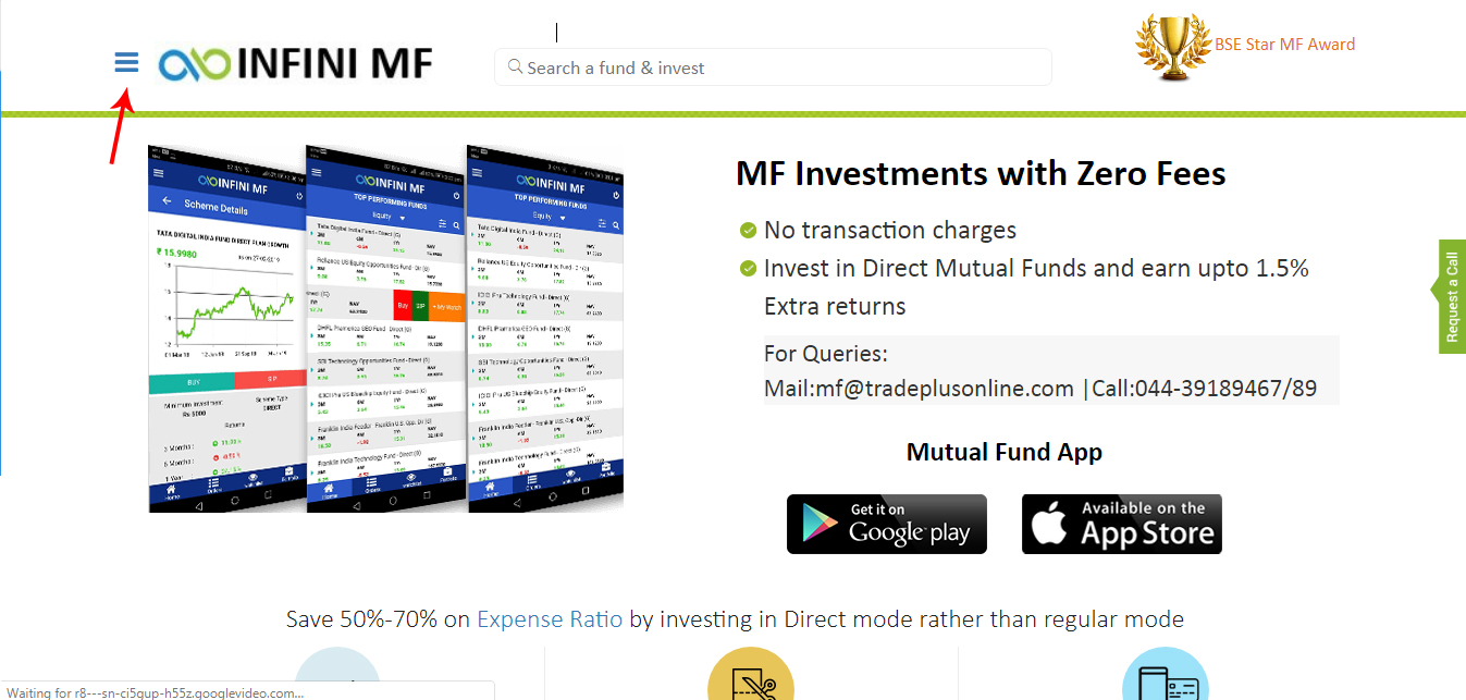 Infini MF page screenshot Bharat Bond ETF   ETF of Public Sector Bonds