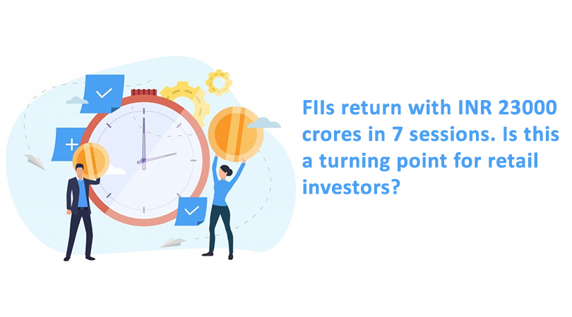 FIIs return with INR 23000 crores in 7 sessions. Is this a turning point for retail investors FIIs return with INR 23000 crores in 7 sessions. Is this a turning point for retail investors?