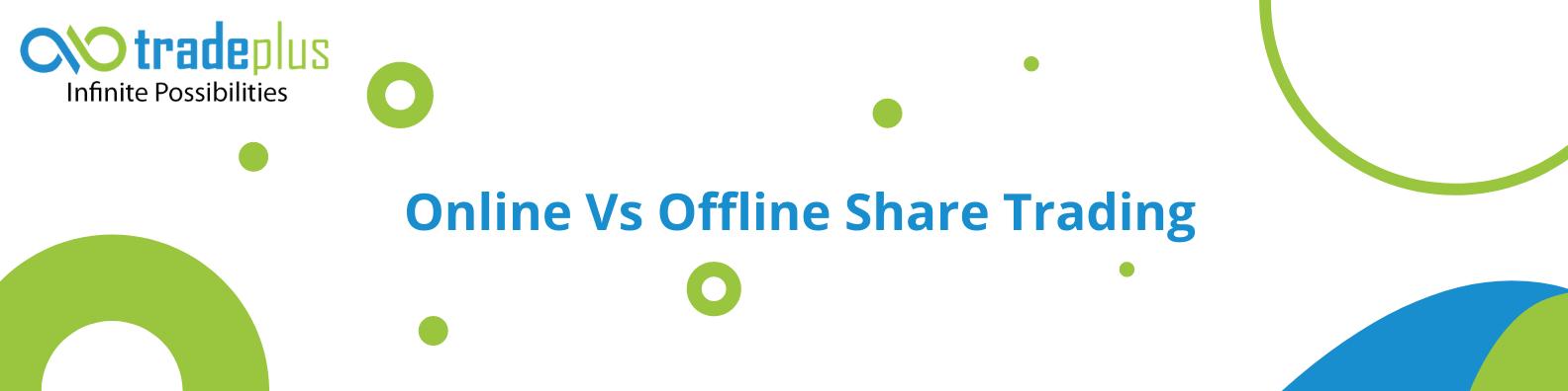 Blue and Yellow Technology LinkedIn Banner 5 Online Vs Offline Share Trading