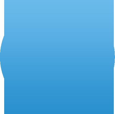 round light blue bubble